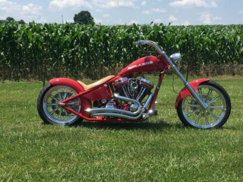 2003 Custom Built Motorcycles Chopper Red for sale craigslist