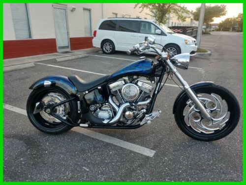 2003 Custom Built Motorcycles Pro Street Pro Street Black w/Blue Flames for sale