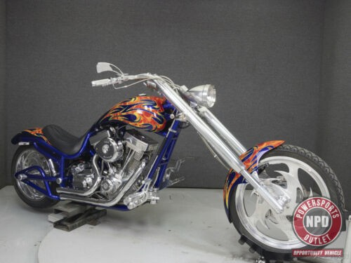 2004 Bourget LOW BLOW CHOPPER BLUE W/FLAMES for sale
