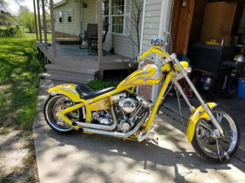 2004 Custom Built Motorcycles Chopper Yellow for sale craigslist