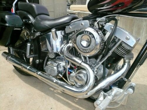 2004 Harley-Davidson Shovel Head Soft Tail Black withblue/red flames for sale craigslist