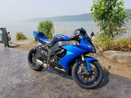 2008 Kawasaki ZX10R Blue for sale