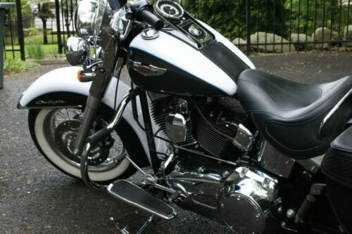 2009 Harley-Davidson Softail FLSTN DELUXE VIVID BLACK/WHITE for sale craigslist