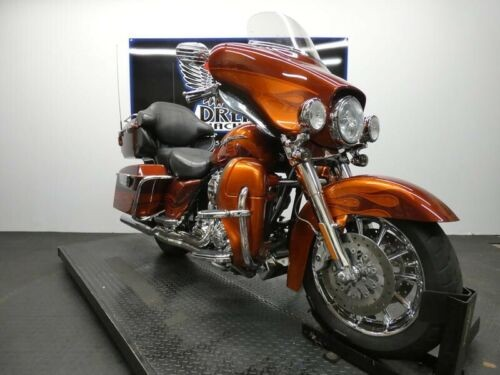2010 Harley-Davidson FLHTCUSE5 - CVO Ultra Classic Electra Glide -- Burnt Amber And Hot Citrus With Flame Graphics for sale craigslist