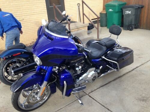 2017 Harley-Davidson Touring Cobalt blue with metal flake dark blue on rear of the bike for sale