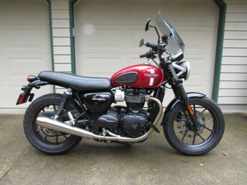 2017 Triumph Street twin Red for sale