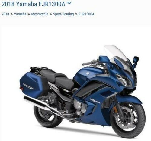 2018 Yamaha FJR -- Blue for sale craigslist
