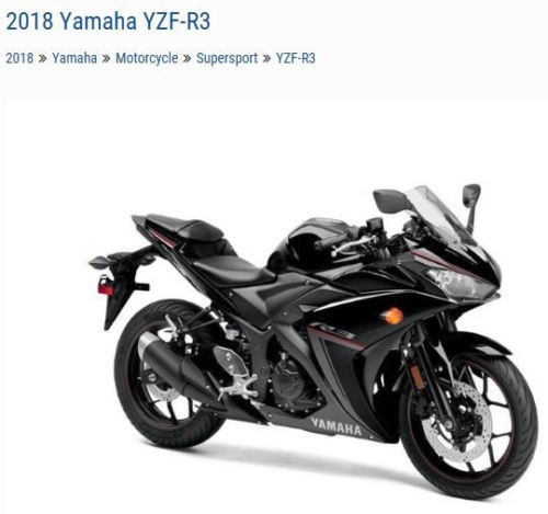 2018 Yamaha YZF-R3 YZFR3JB Black for sale craigslist