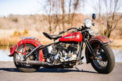 1939 Harley-Davidson Flathead Red for sale