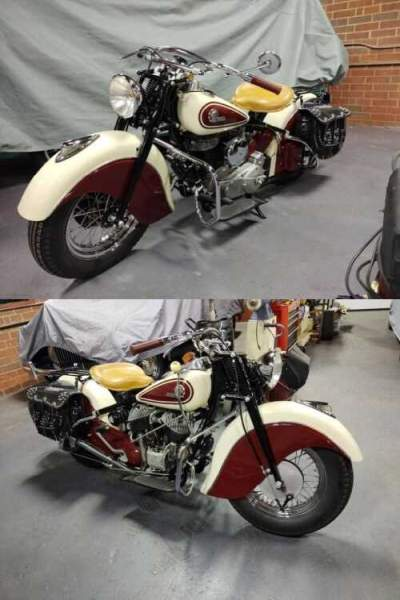 1946 Indian Chief red and white for sale