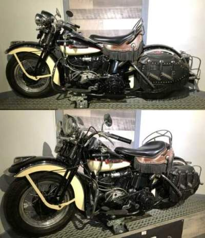 1947 Harley-Davidson EL Knucklehead Black for sale craigslist