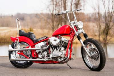 1951 Harley-Davidson Panhead Custom Red Metallic for sale craigslist