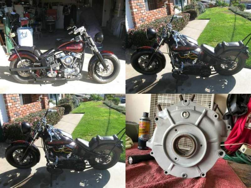 1957 Harley-Davidson panhead hardtail black an red ghost pearl for sale craigslist