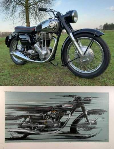 1958 Norton ES2, Free Shipping Black/silver for sale craigslist