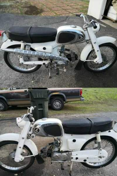 1963 Honda CL-110 white for sale craigslist