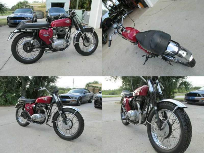1967 BSA A65 Hornet west coast model Red for sale