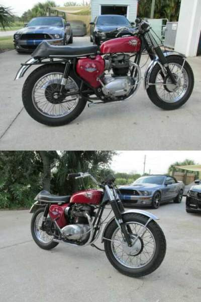 1967 BSA A65 Hornet Red for sale