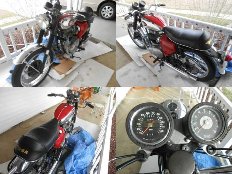 1967 BSA Lightning A65L Red for sale