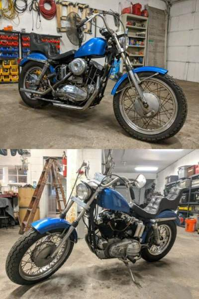 1967 Harley-Davidson Sportster Blue for sale