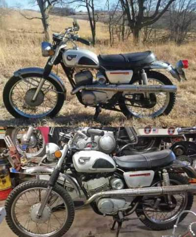 1968 Kawasaki Bushwhacker 175 F3 Silver for sale