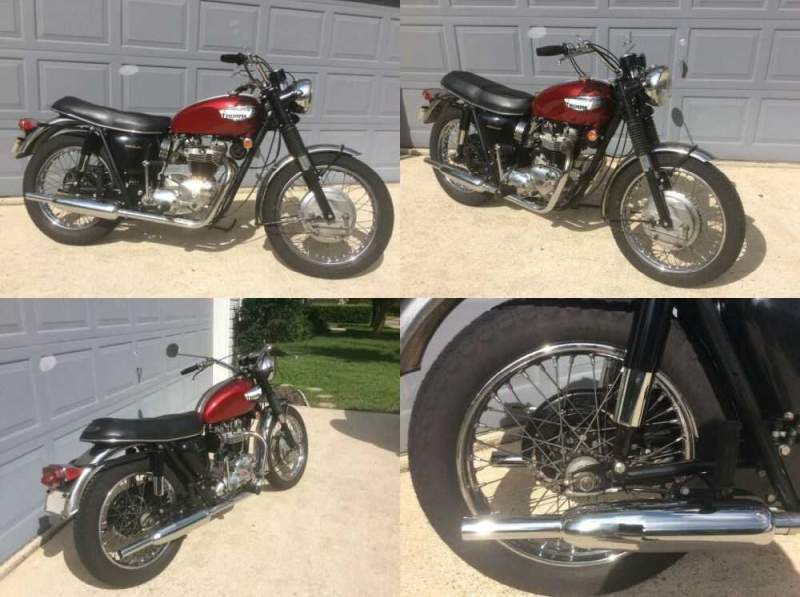 1968 Triumph Bonneville Red for sale