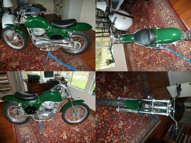 1969 BSA Scrambler Green for sale