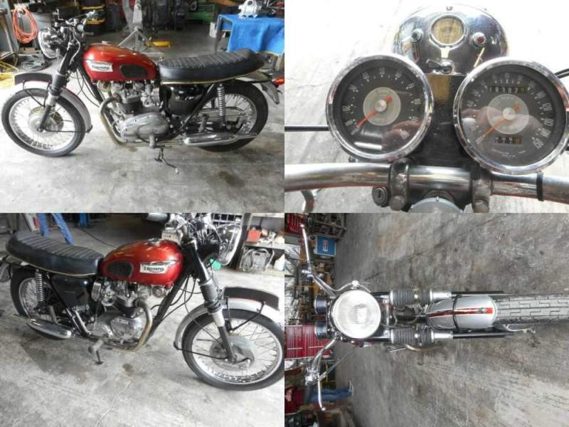 1969 Triumph Bonneville Red for sale craigslist