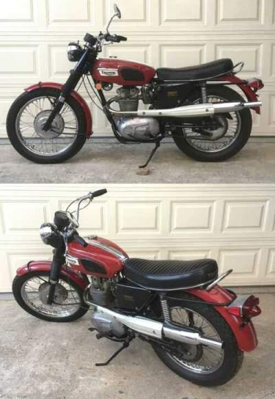 1970 Triumph Trophy Red for sale craigslist