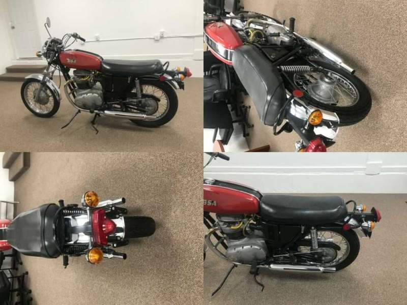 1971 BSA A65 Red for sale