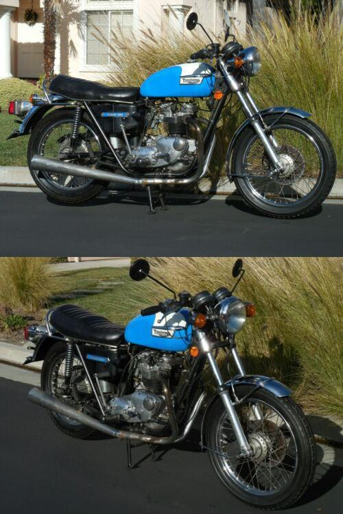1973 Triumph Tiger BLUE AND WHITE for sale craigslist
