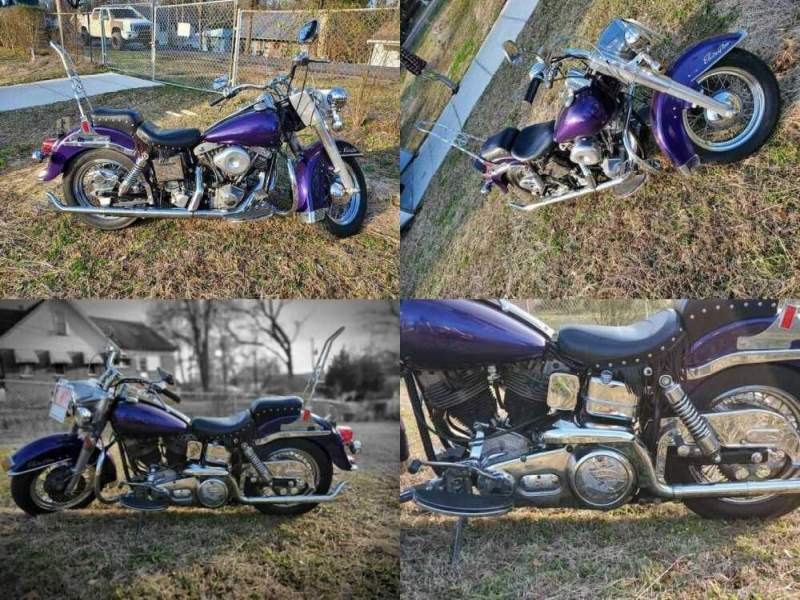 1974 Harley-Davidson flh-1200 Purple for sale