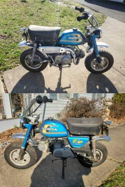 1974 Honda Z50 Blue for sale