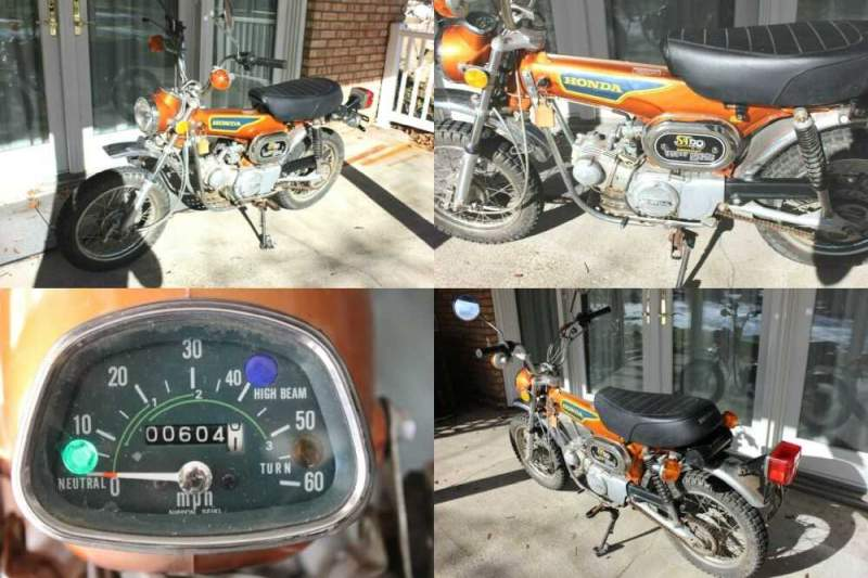 1975 Honda ST 90 Motorcycle Trail Bike Orange for sale