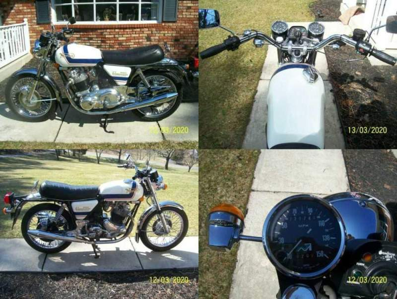 1975 Norton norton commando mk3 white and blue for sale