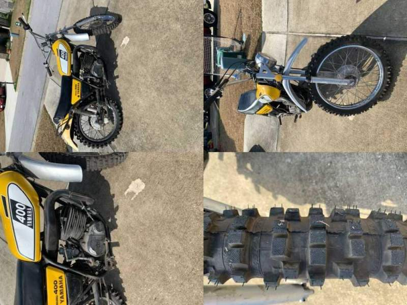 1975 Yamaha DT400B Yellow/White for sale