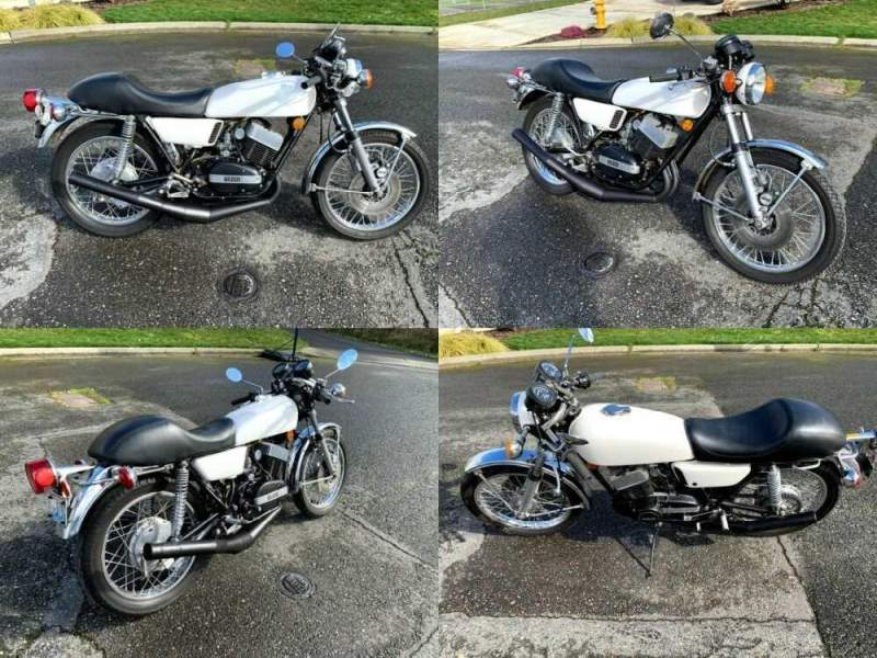 1975 Yamaha RD350 White for sale