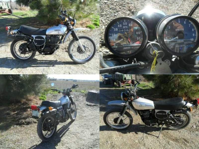 1978 Yamaha XT-500 Silver w/black for sale craigslist