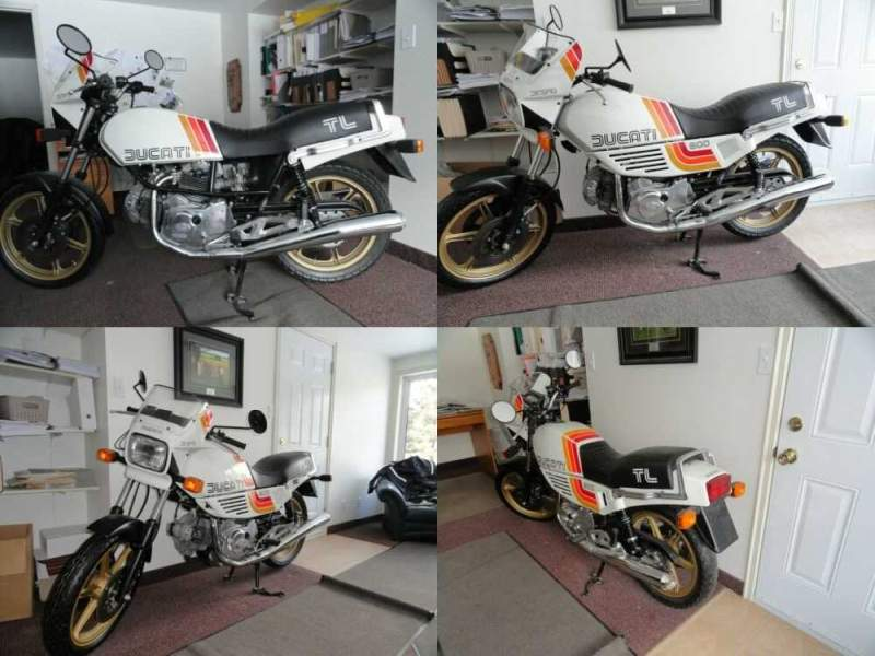 1985 Ducati 600TL Pantah White for sale craigslist