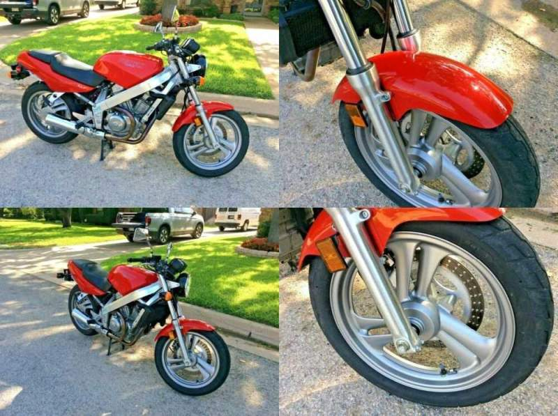 1991 Honda Hawk GT 650 Red for sale