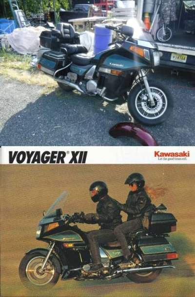 1992 Kawasaki Voyager XII Black/Teal for sale