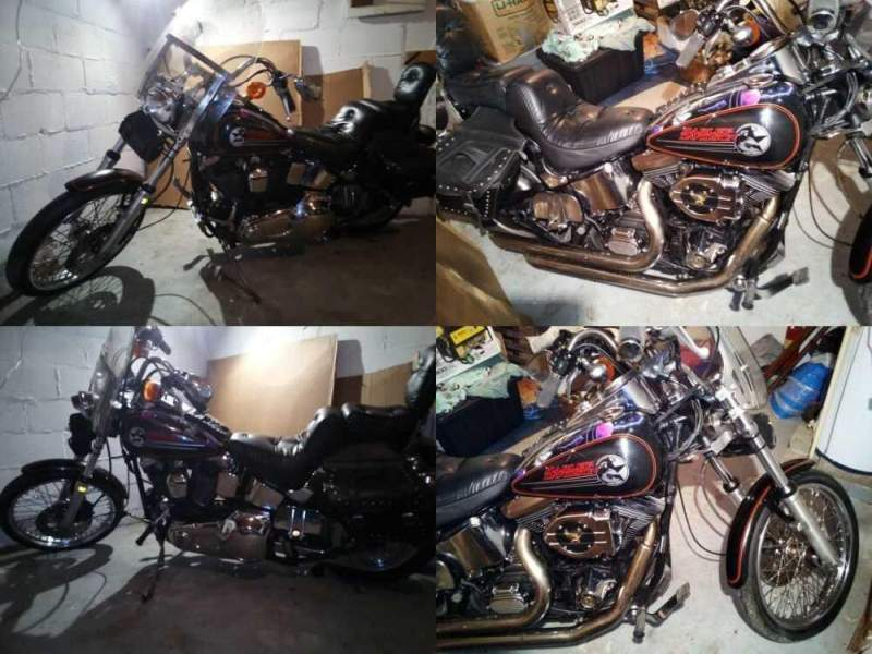 1994 Harley-Davidson Softail black with air brush on tanks and fender for sale