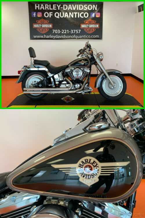 1997 Harley-Davidson Fat Boy Silver and Black for sale craigslist