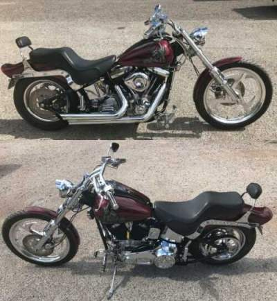 1998 Custom Built Motorcycles Chopper Red for sale craigslist