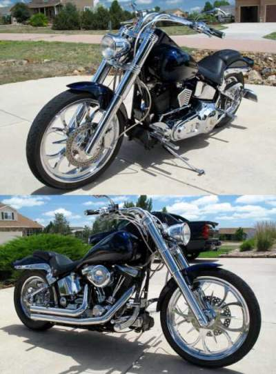 1998 Harley-Davidson Softail Blue/Black for sale