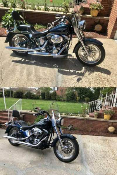 2001 Harley-Davidson Softail Green for sale