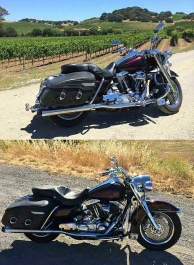 2002 Harley-Davidson Touring BLACK CHERRY AND BLACK ,GHOST FLAME for sale