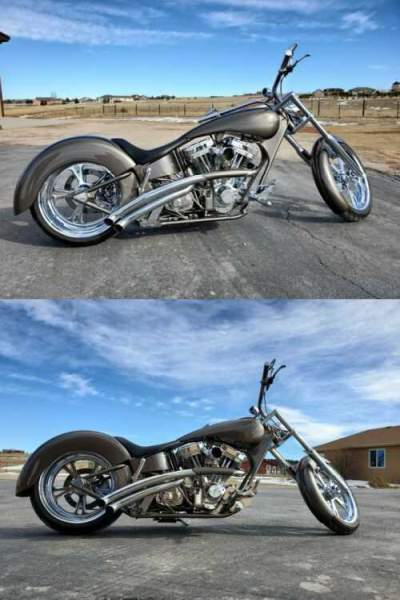2003 Custom Built Motorcycles Chopper Pewter/Burgundy for sale craigslist