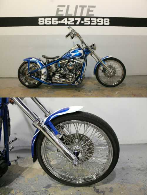 2004 Custom Built Motorcycles Chopper Blue for sale