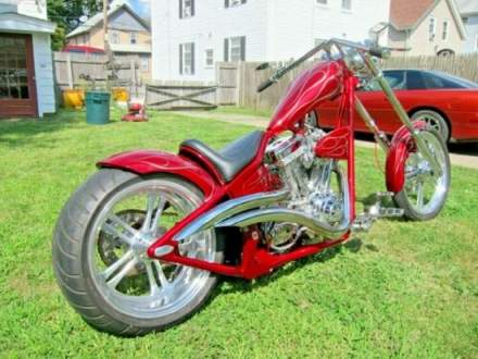 2004 Custom Built Motorcycles Chopper candy apple red for sale craigslist