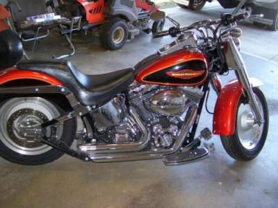 2005 Harley-Davidson FLSTFI Fat Boy Orange for sale